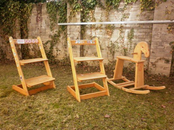 náhled 2x židle + kůň