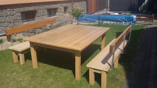 náhled Stůl s lavečkami