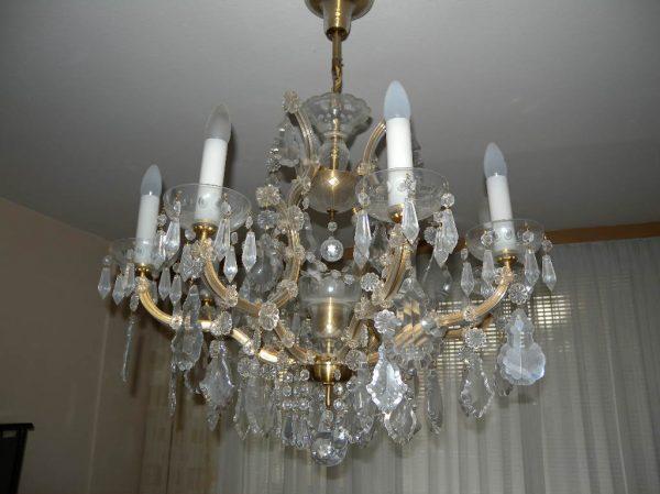 náhled Prodám lustr z broušeného skla + svítidlo na stěnu