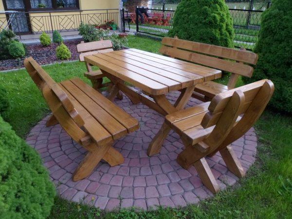 náhled Krásna robustní sada zahradního nábytku- Smrk tlustka 5 cm