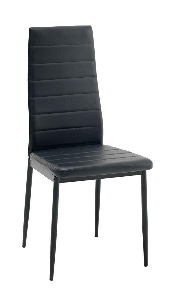 náhled Jídelní židle NOVÉ černé 4ks