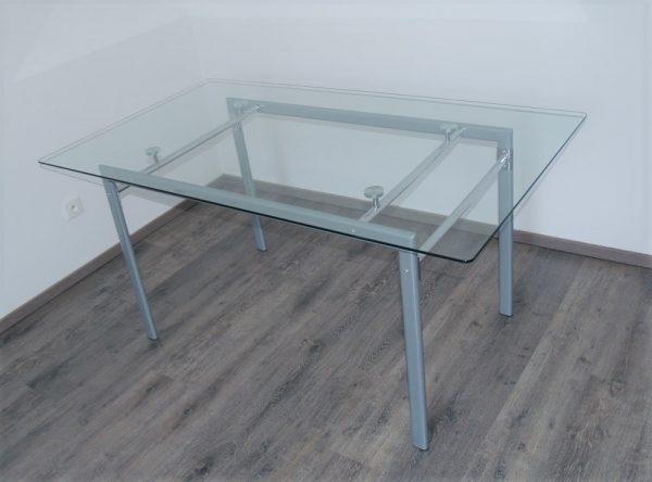 náhled Jídelní stůl 160 x 90, deska z tvrzeného skla