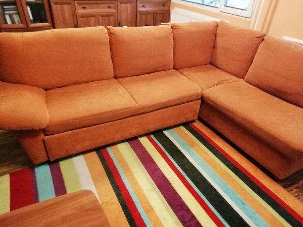 náhled Rohový rozkládací gauč s úložným prostorem