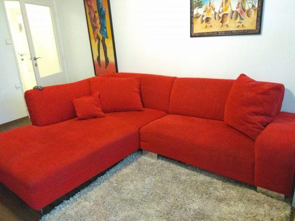 náhled Červená rohová sedačka