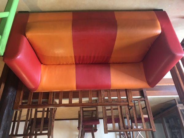 náhled Kožena barevná sedačka
