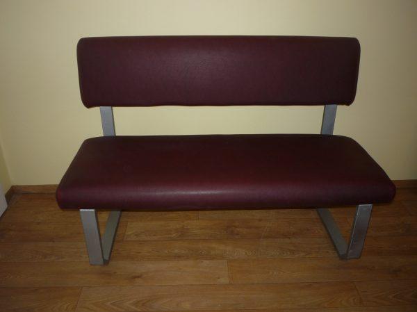 náhled Kovová čalouněná lavice