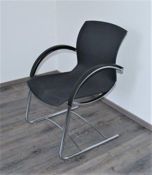 náhled Souprava 6 kancelářských židlí/křesel s kovovou