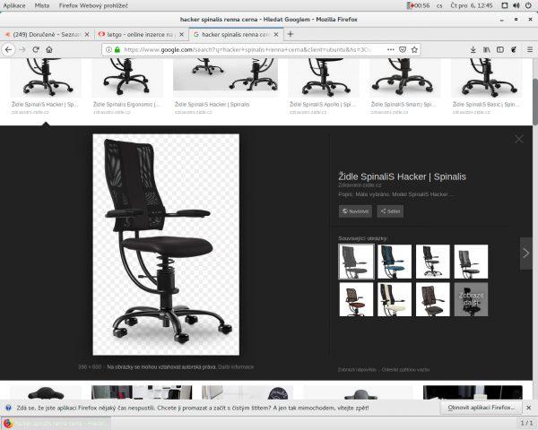 náhled computer chair zdravotni Spinalis Hacker Renna