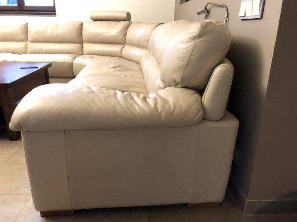 náhled Krémová kožená sedačka