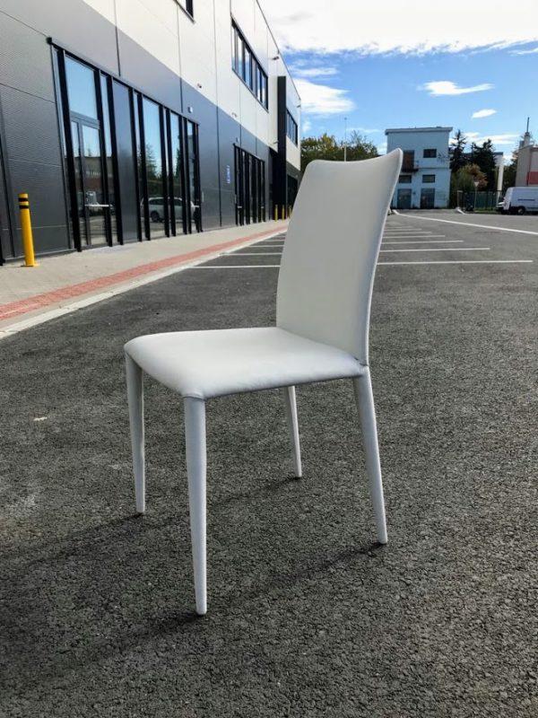 náhled 4 bílé koženě polstrované židle