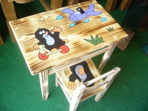 náhled dětský stoleček a židlička