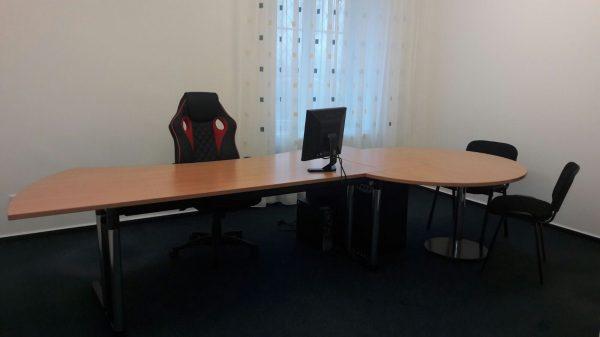 náhled Kancelářský stůl s přísedem + kontejner (zn. Werndl)