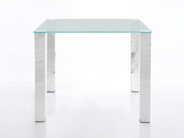 náhled Stůl se skleněnou deskou 90 cm, čiré sklo