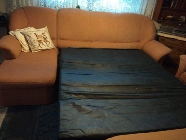 náhled Rozkládací sedací souprava - pohovka a křeslo