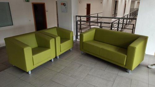 náhled Koženková sedací souprava (gauč + 2 křesla)