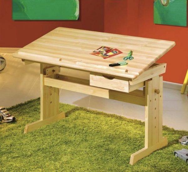 náhled Dřevěný polohovací stůl